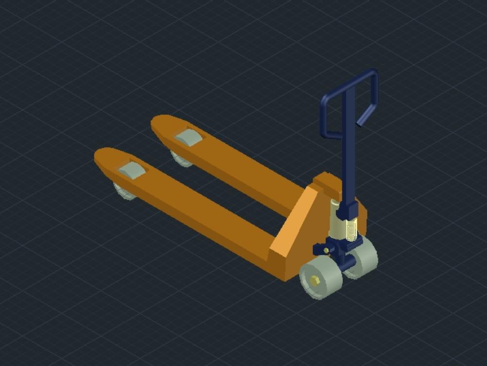 Jack pallet 3d carrito de carga de pallet