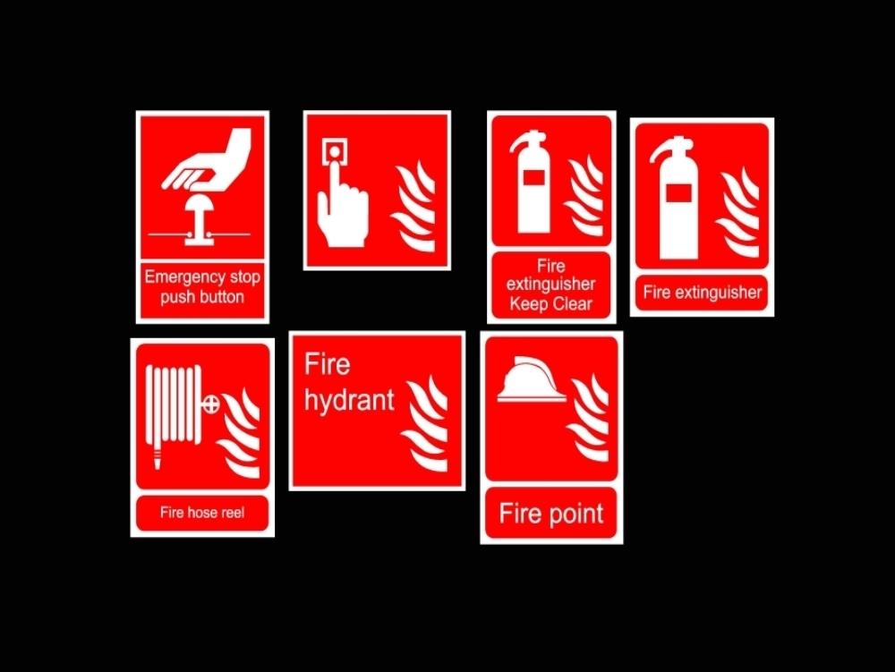 Señales de incendios- emergencia y evacuación