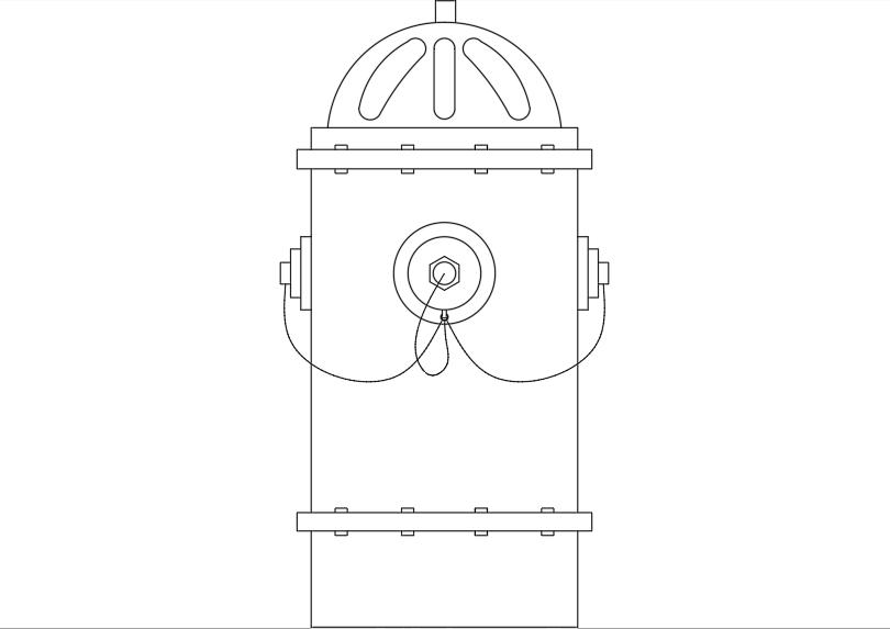 Símbolo hidrante exterior