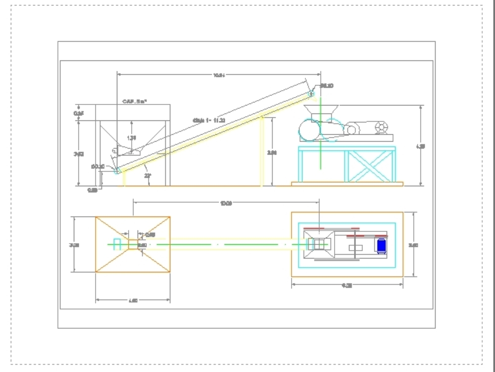 Feed system to a roller mill