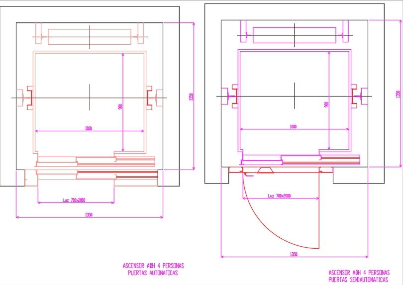 Instalación de ascensores en edificio residencial