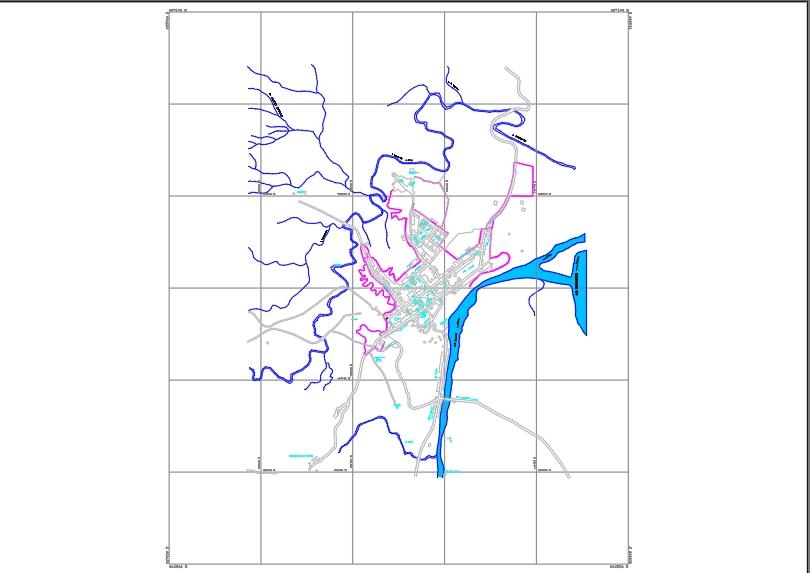 Plano urbano-coello-tolima-colombia.
