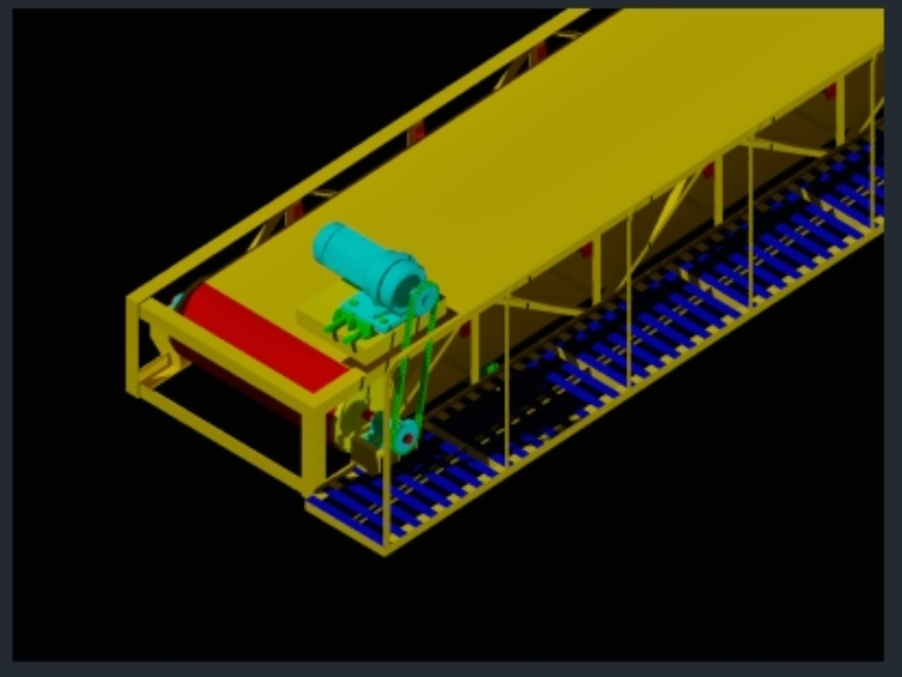 3d belt conveyor for screening plant