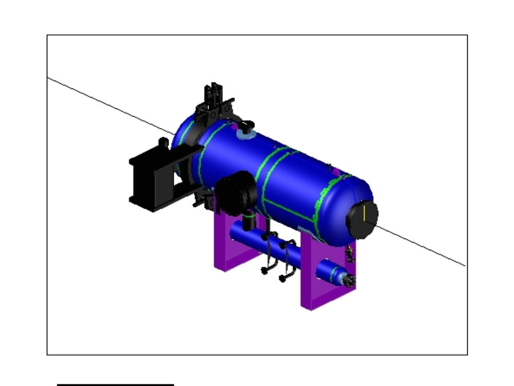 Pressure vessel (coalescing filter)