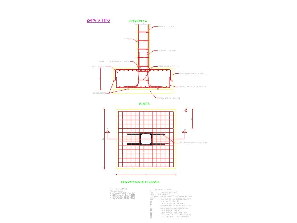 Foundation Plan Of Reinforced Slab In Autocad Cad 36 67