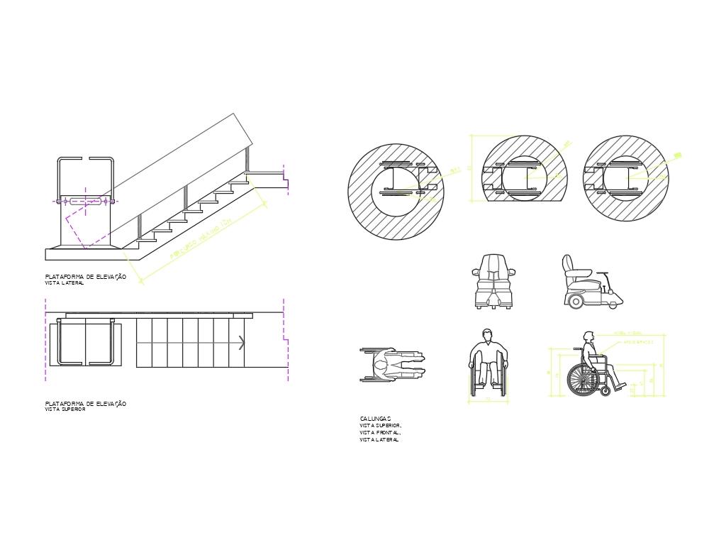 Wheelchair lift platform