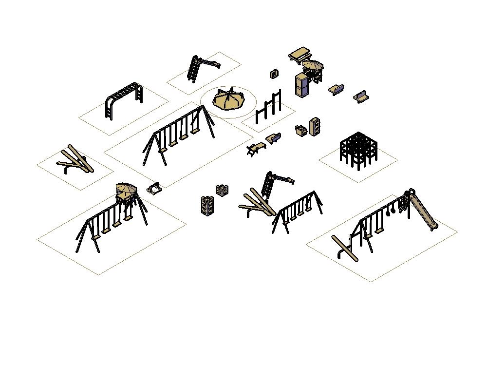 Outdoor park equipment - squares