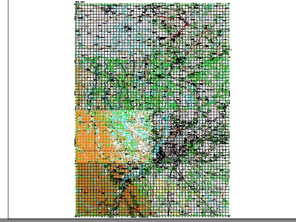Topographic map santa cruz-montero