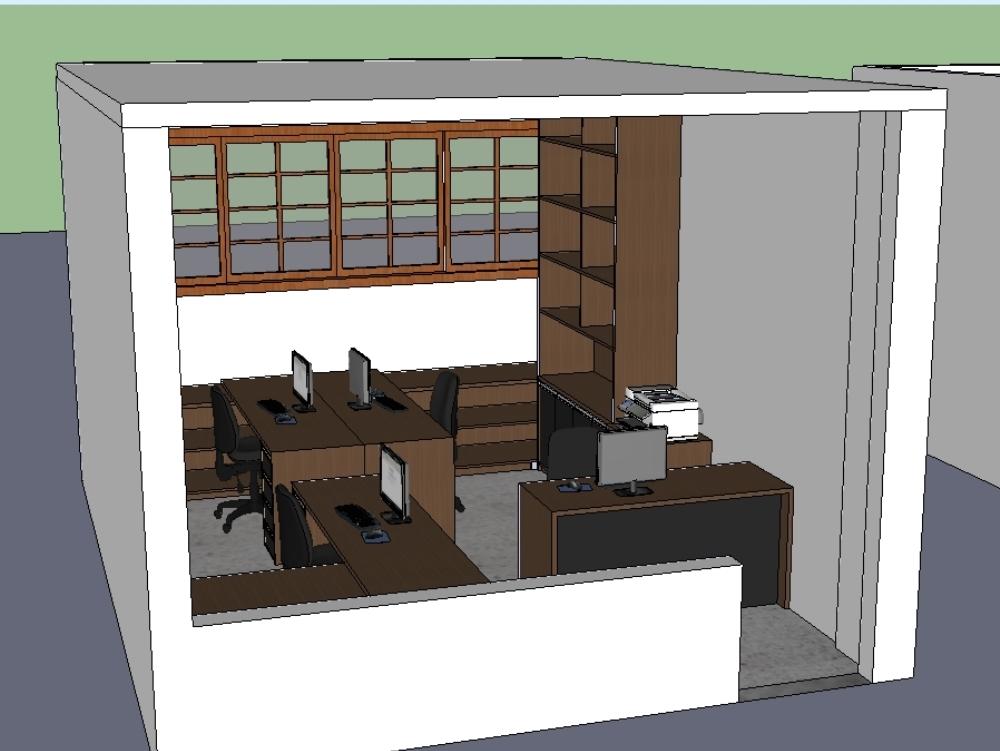 Tridimensional de projeto de interiores
