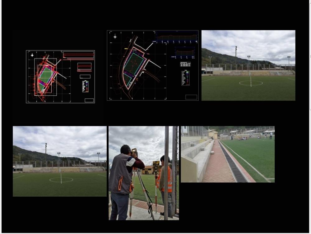 Topografia del complejo deportivo cuyuchugo; julcan