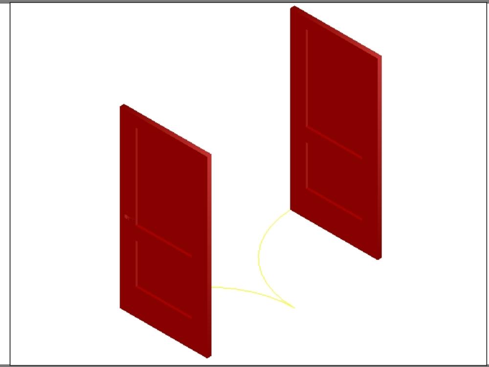 Double door for structural buildings
