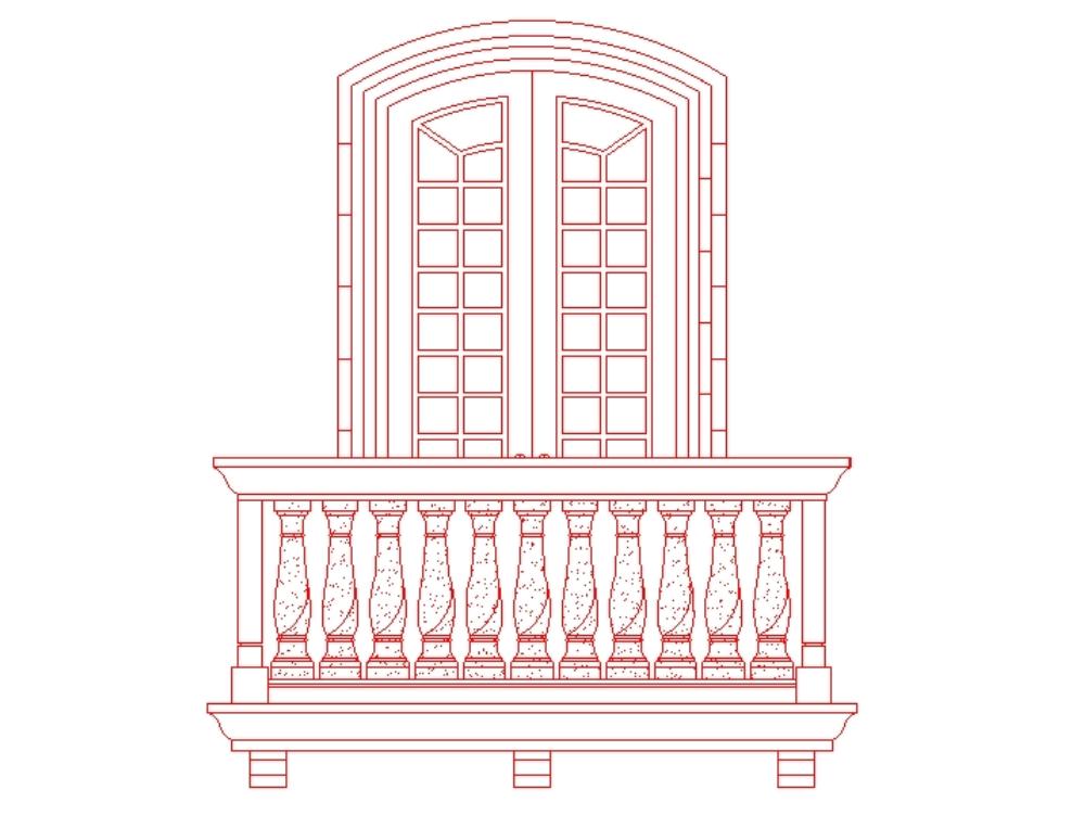 Decorative pillar modern balcony guide