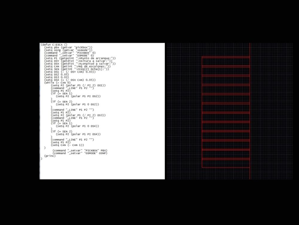 Auto lisp routine - ladder