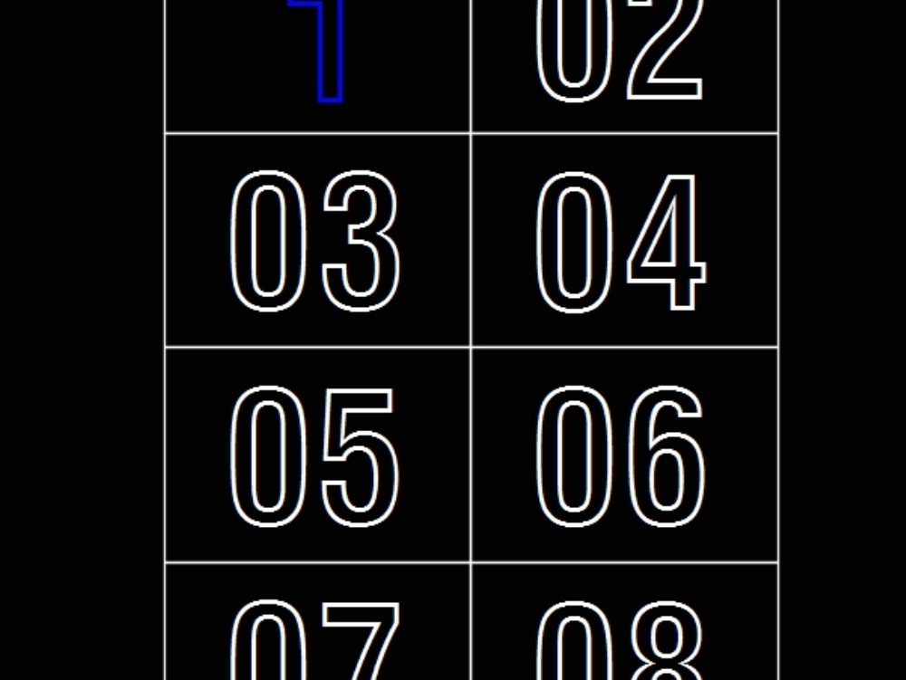 Vectorized numbers