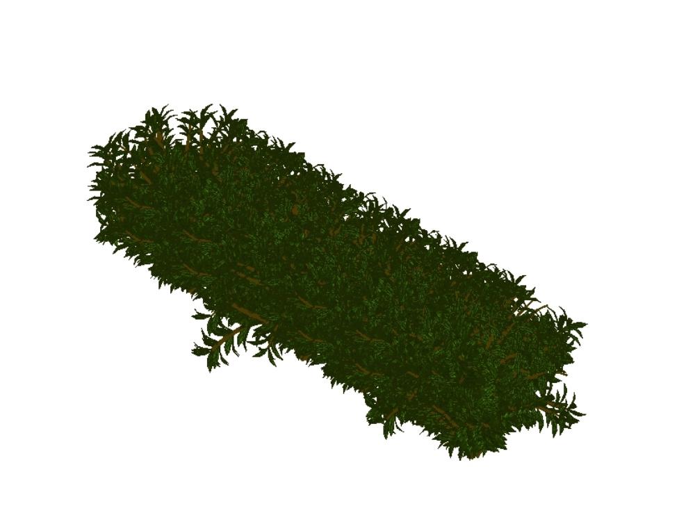 Realistic linear bush for revit