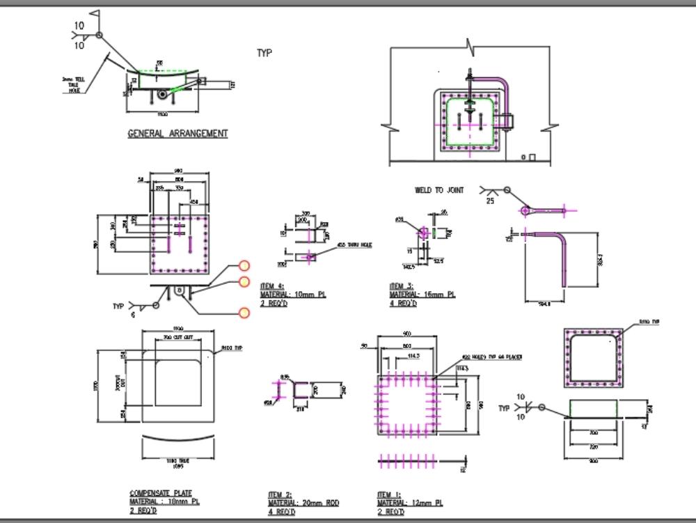 Diseño de agujero de hombre para actualización de celda de flotación