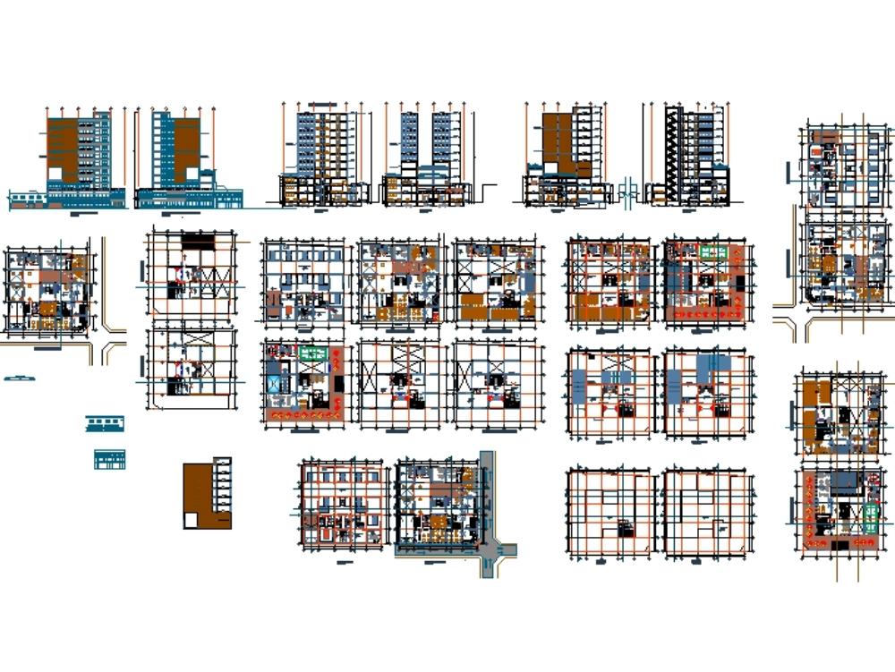 Diseño club centro piurano y oficinas