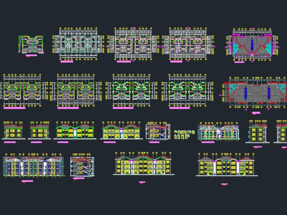 Apartamento de una habitación, edificio de una planta