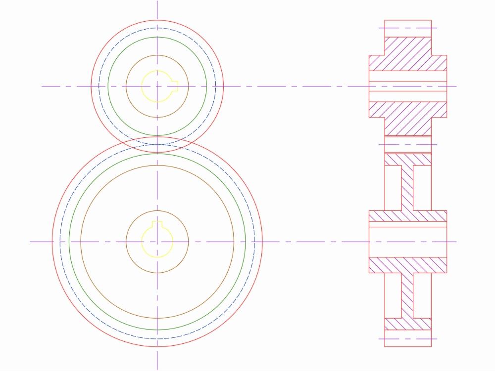Sistema de engranaje de diseño de motores