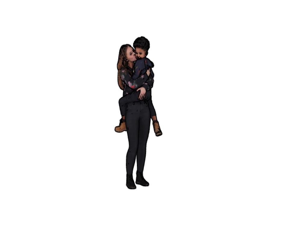 Madre e hijo  3d