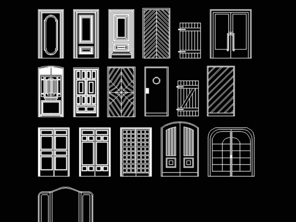 Detalle de puertas y herrerias