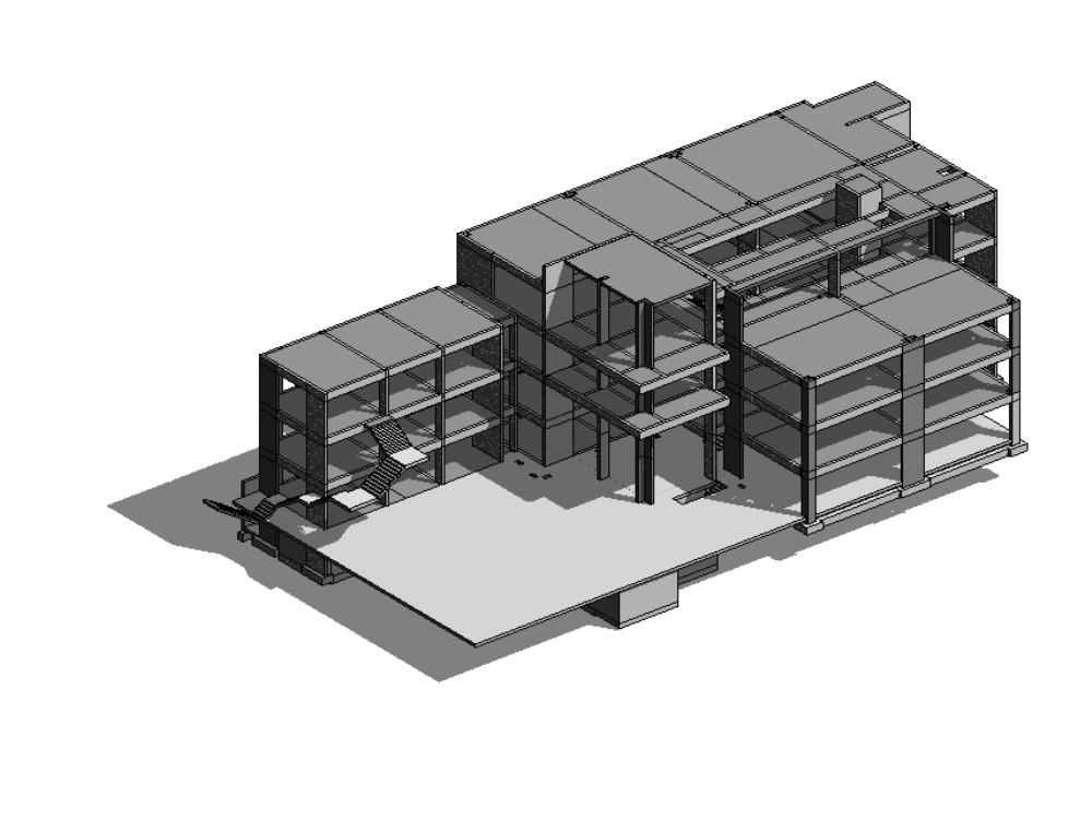Edificio de 8 pisos estructurado con detalles varios