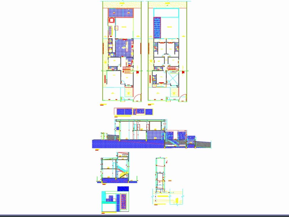 Proyecto residencial de dos pisos