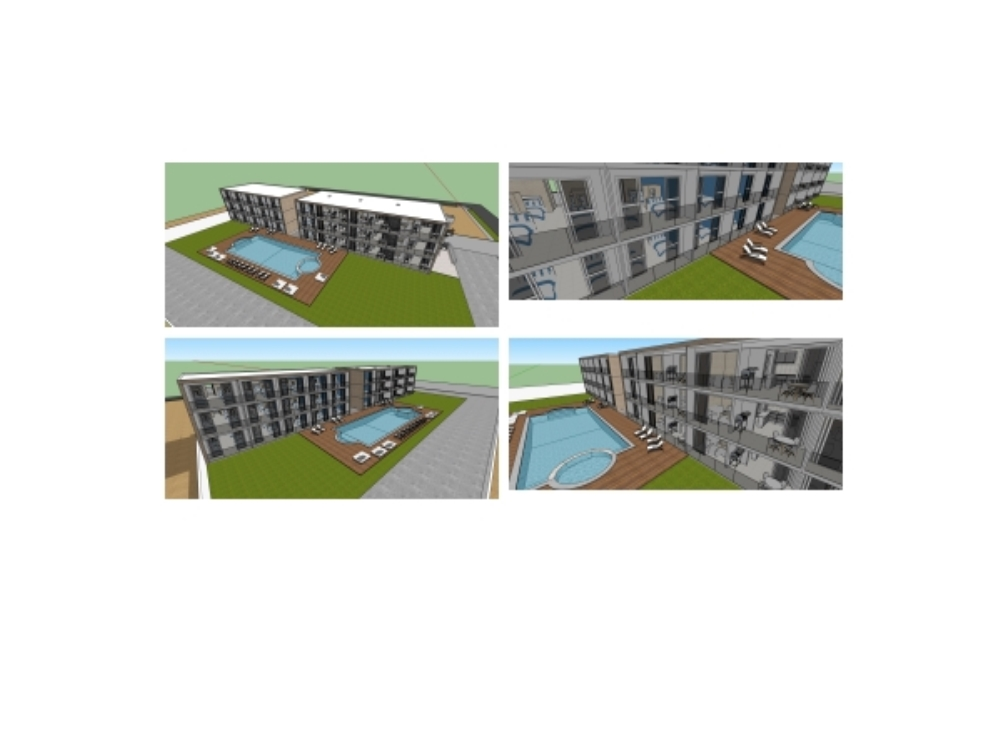 Towers of bungalows and multiple rooms in Mancora