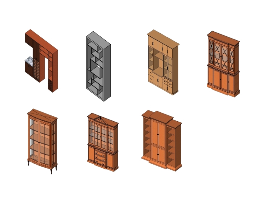 Families revit furniture - cabinets