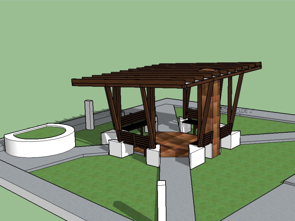 Modern gazebo for outdoor area