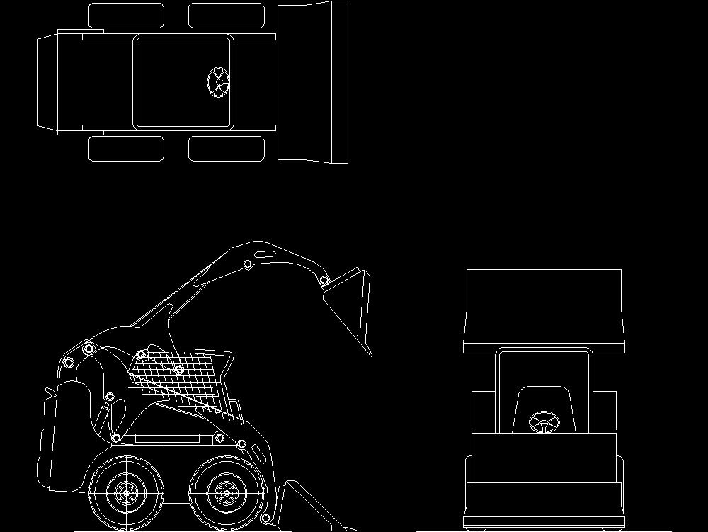 Bob cat s220f es un vehiculo para la industria de planos