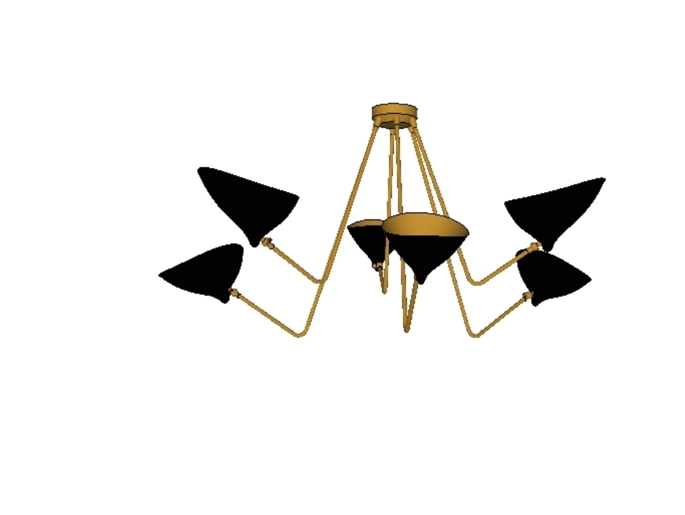 Gong dino 3d chandelier ceiling lamp