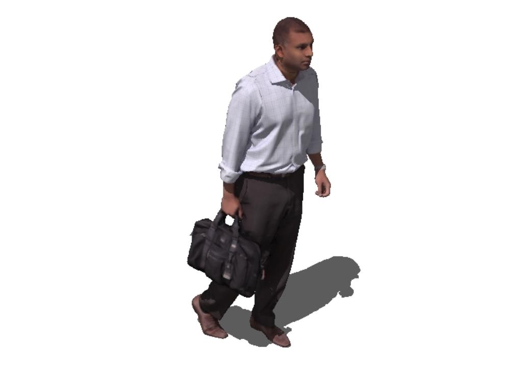 Adult man walking