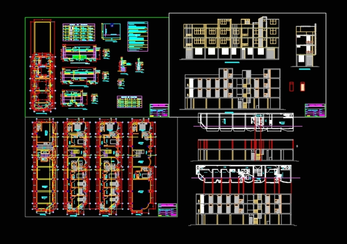 Shopping center construction plan