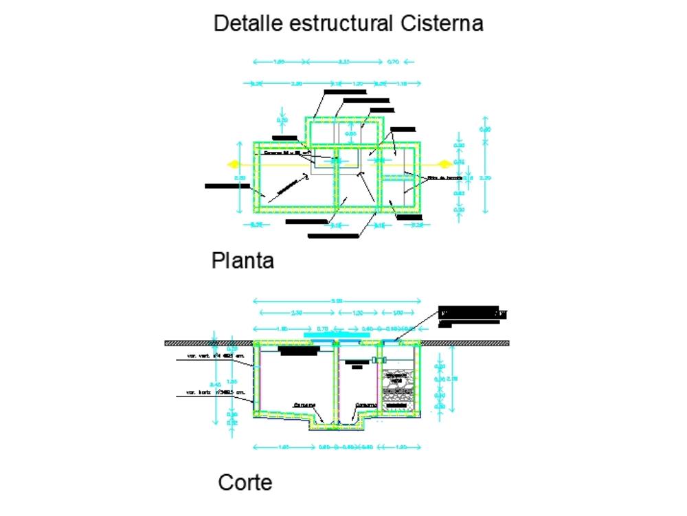 Cisterna pluvial y potable