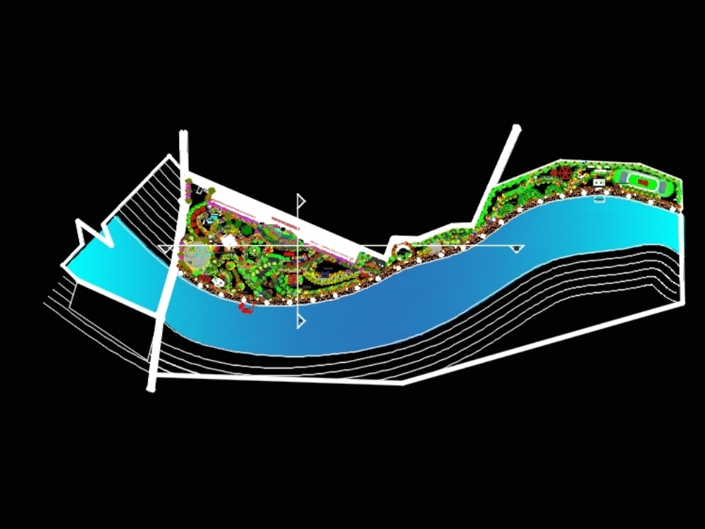 River front development in the rural area of the city