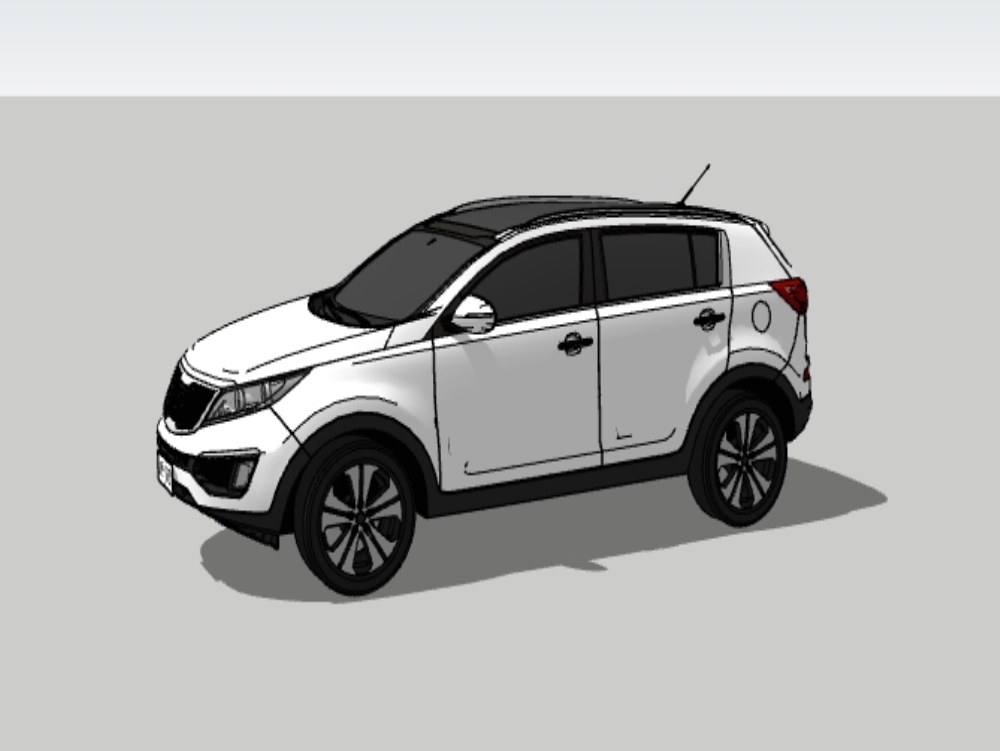 Kia sportage 2018 white truck
