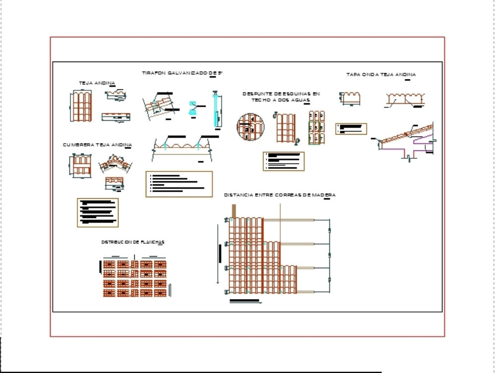 Detalle de cobertura con teja andina