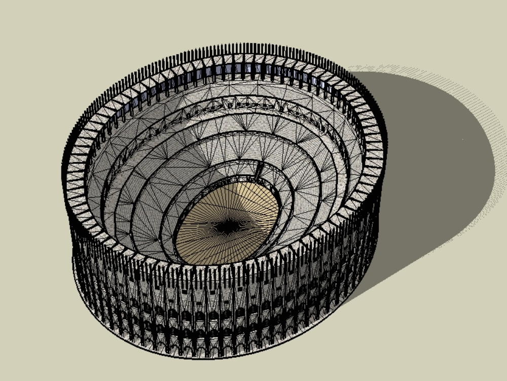 Colosseum sketchup rome; 3d sketchup rome column design