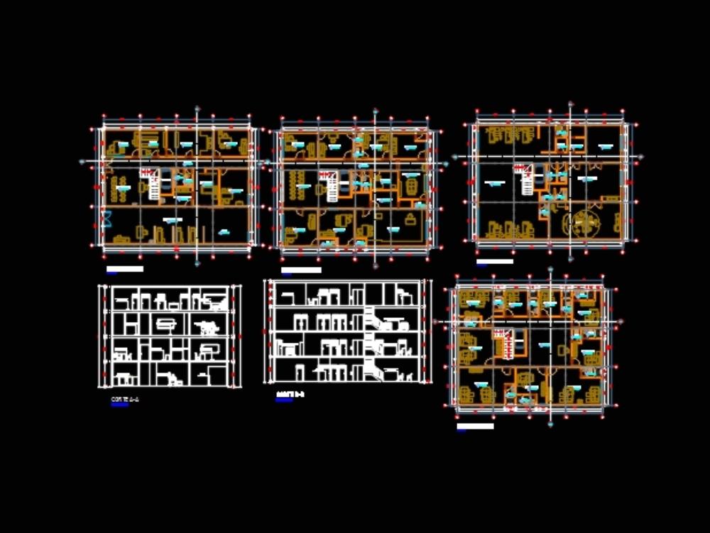 Four-floor clinic plans