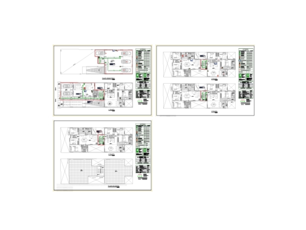 Multi-family security and evacuation plan