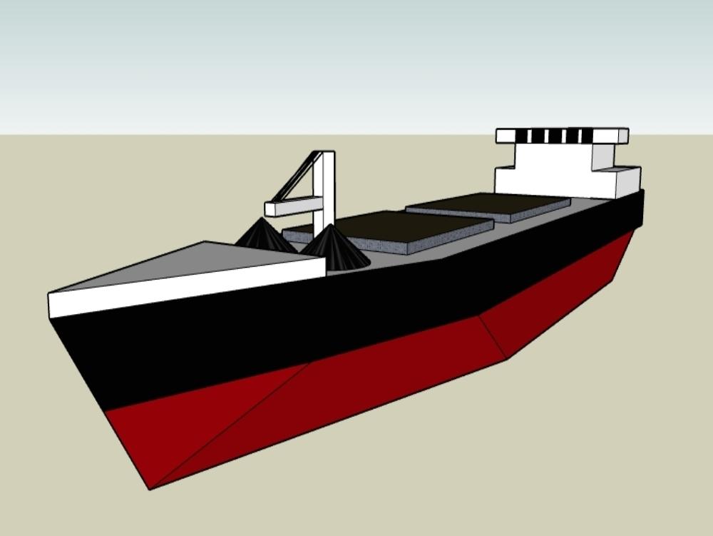 Modeling a boat in sketchup format