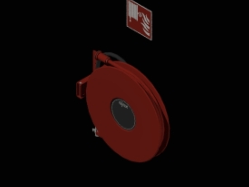 Fire hose reel wall mounted swiveling