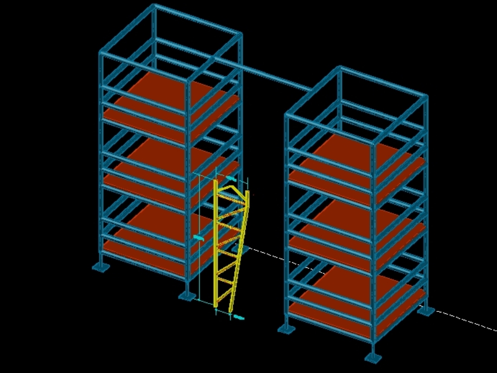 Vertical structure design with scaffolding