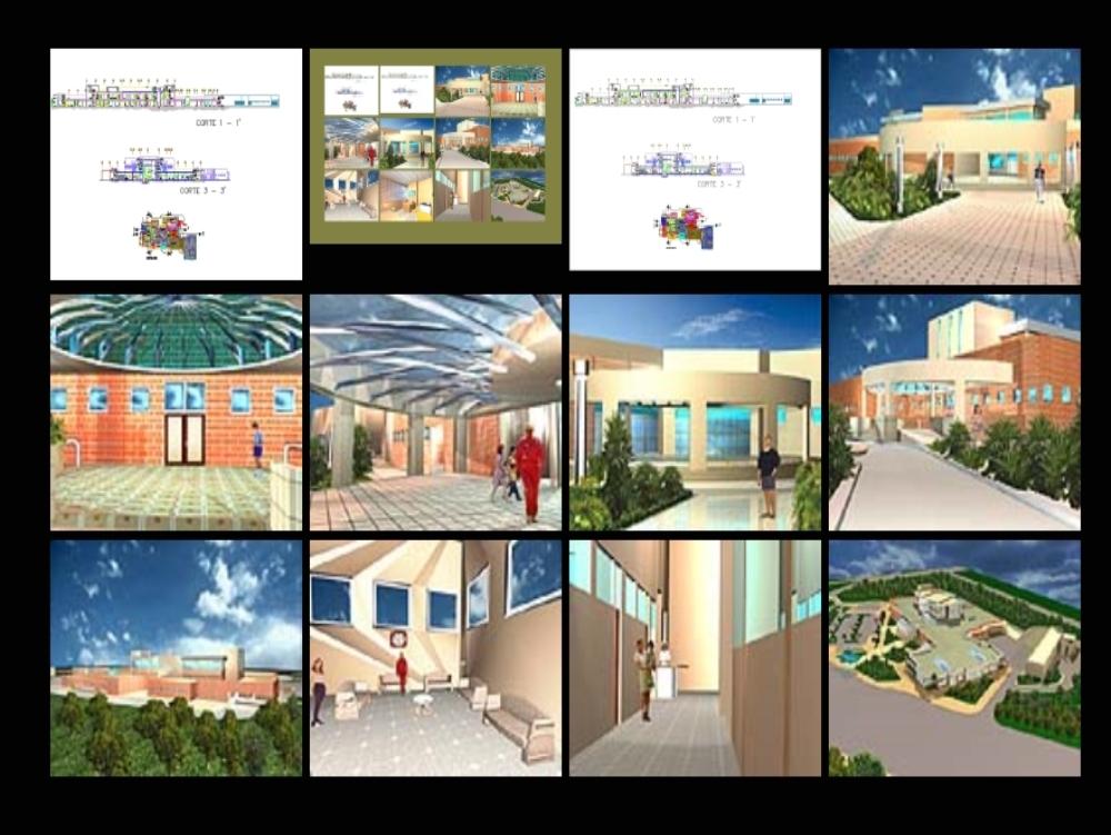 Planos arquitectónicos de un hospital regional