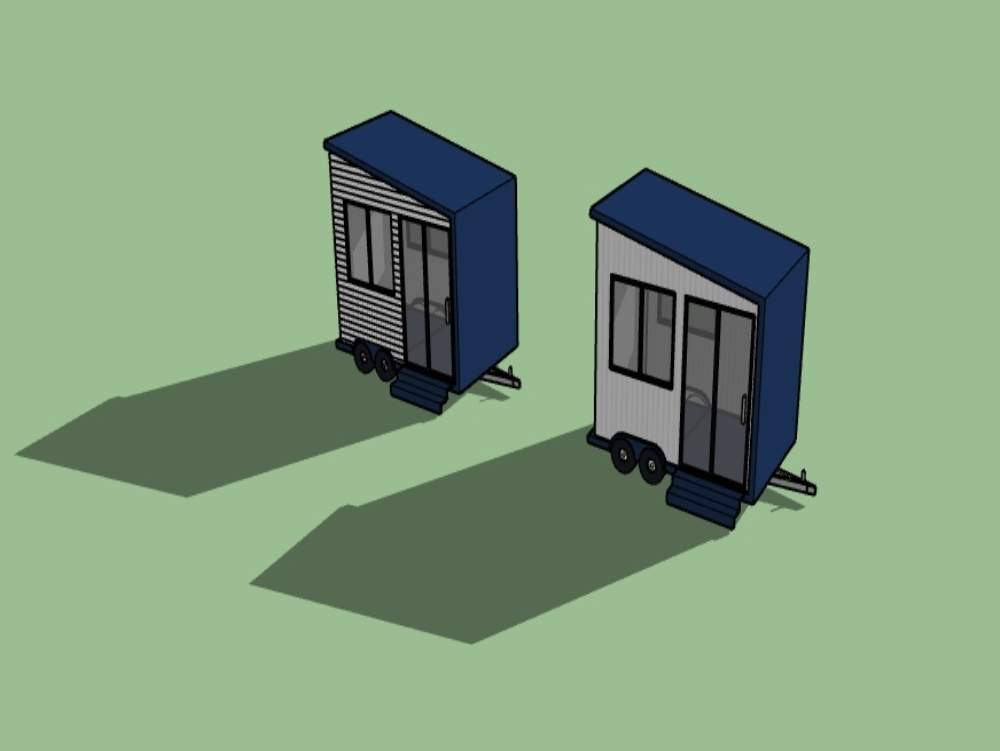 Trailer modeling with metal structure