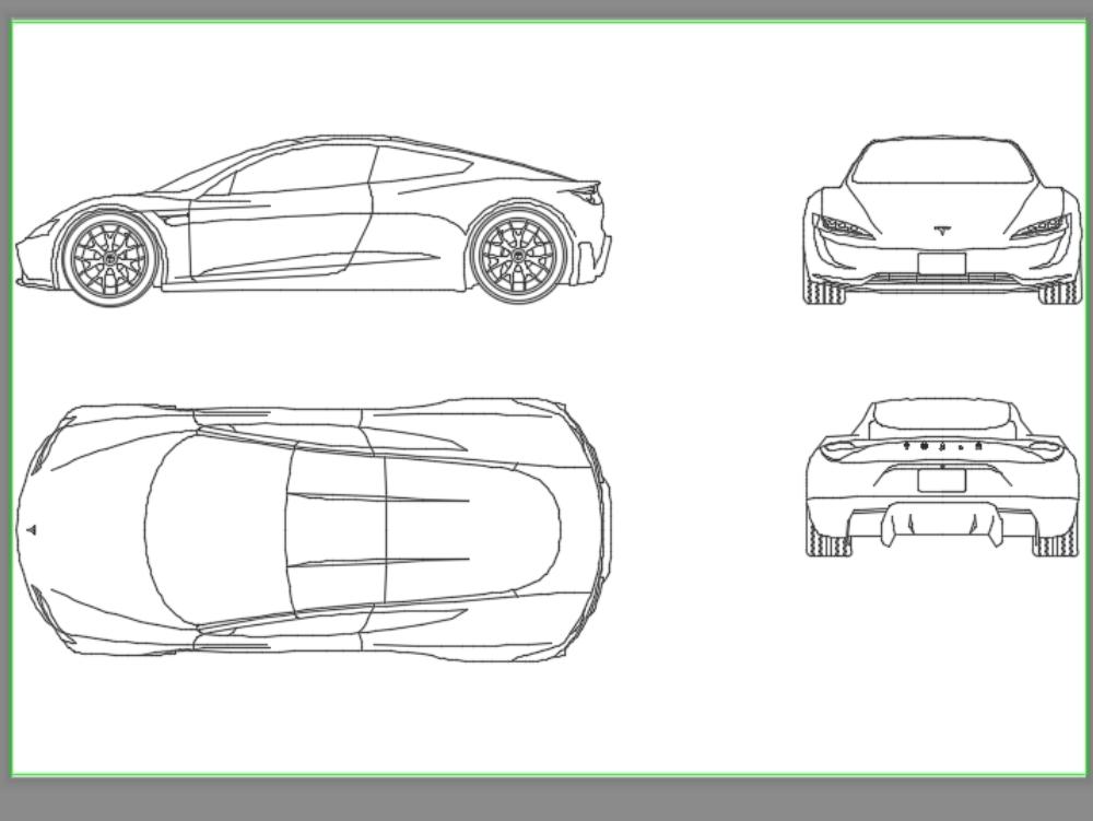Tesla Roadster 2.0 Electric Vehicle