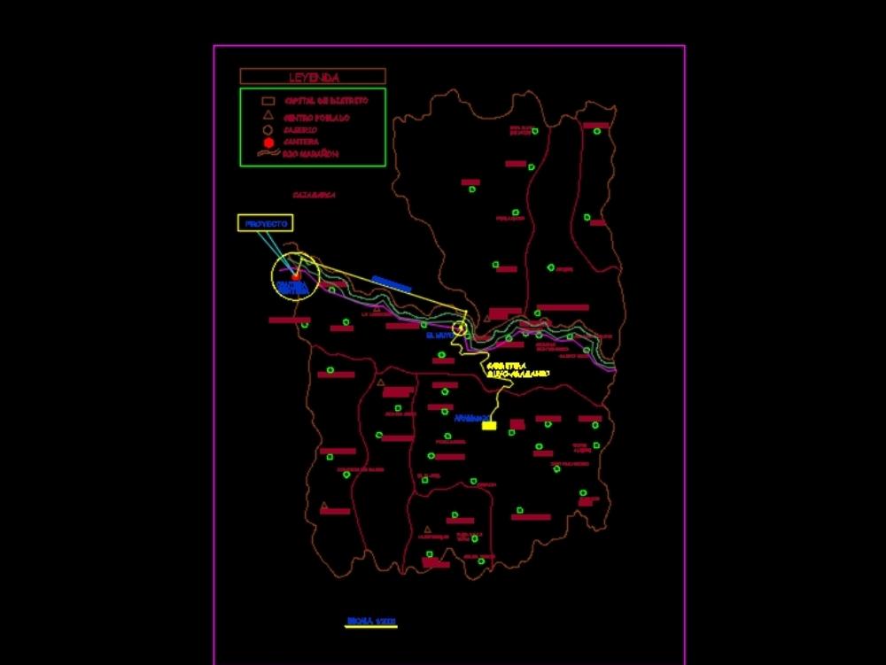 Plano de ubicación de canteras