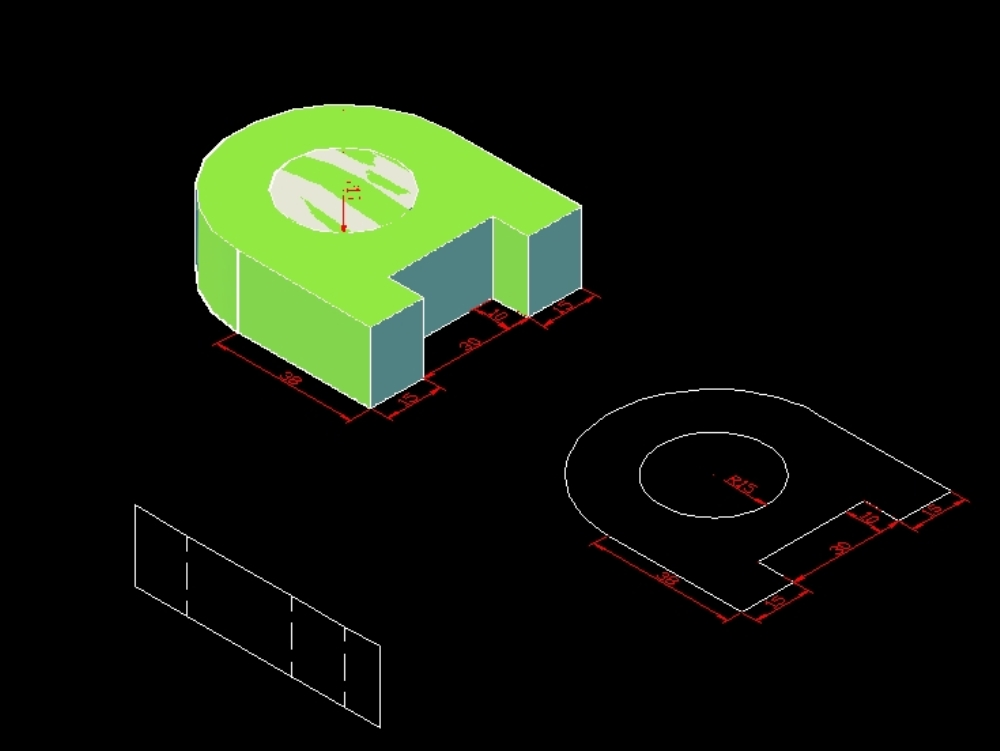 A simple and basic of 3d object using autocad