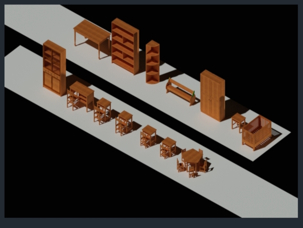 Primary furniture; secondary and direction in 3d